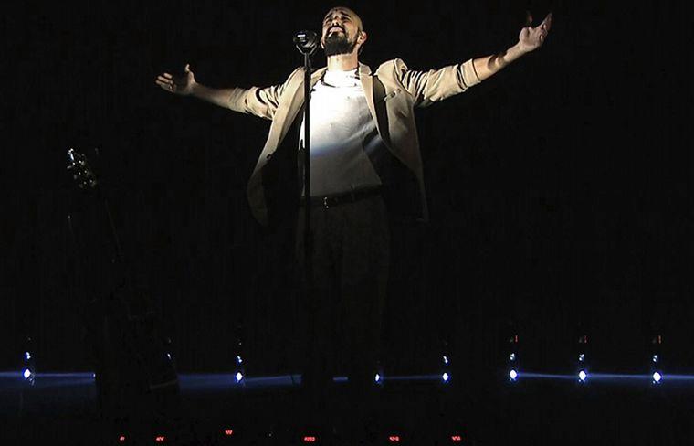 Feliz y agradecido, así se mostró el cantante en sus redes el día después del show.