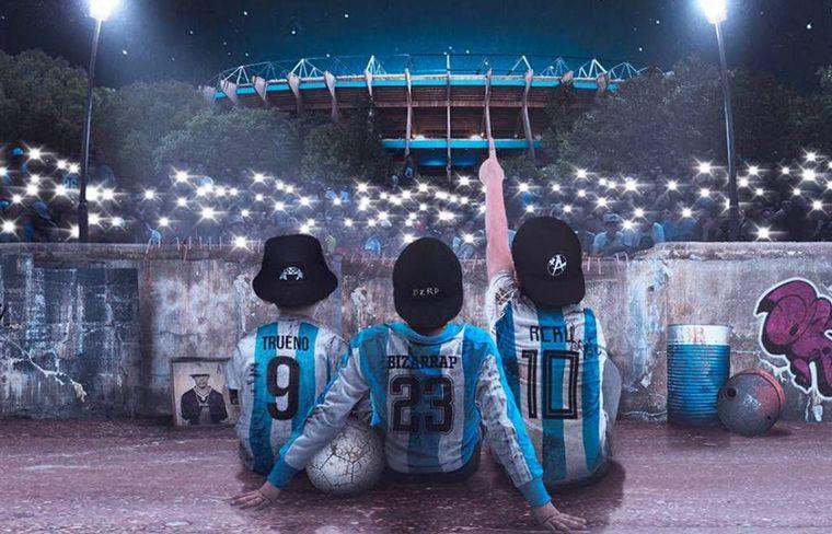 Trueno y Acru grabaron en Argentina, mientras que Bizarrap lo hizo en Miami.