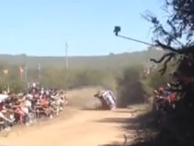 Accidente en el Rally Argentina 2015