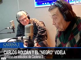 Negro Videla y Carlos Rolán en Viva la Radio
