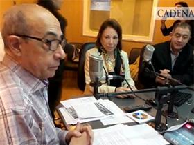 Luis Juez y Olga Riutort en la mesa de café de Juntos