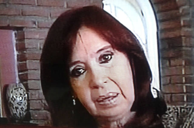 FOTO: La ex presidenta difundió un video desde Río Gallegos.
