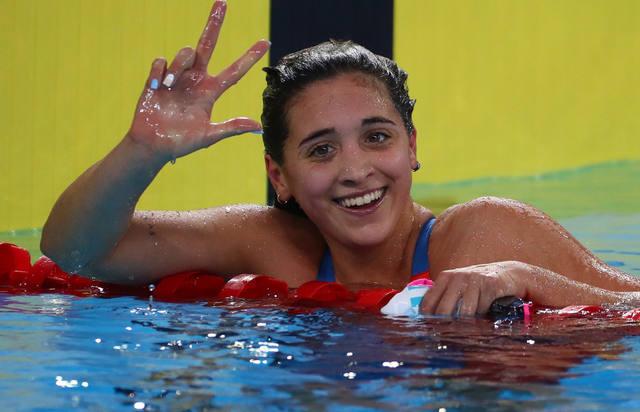 FOTO: Delfina Pignatiello obtuvo su tercer oro en los 1500 libres