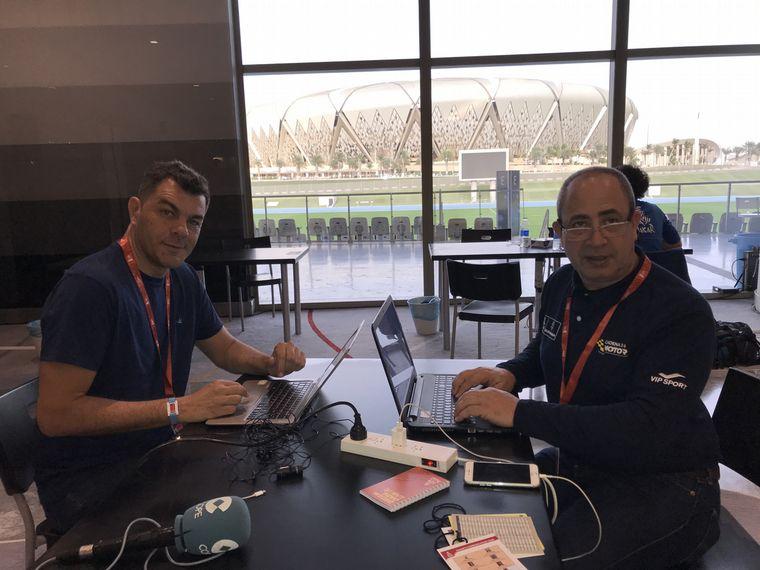 FOTO: Marcelo Cammisa de Cadena3 Motor ya esta en Jeddah.