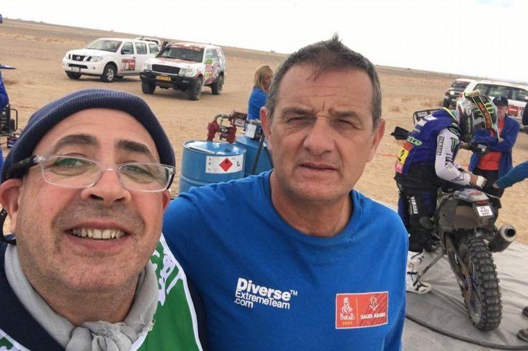 FOTO: Gómez con el director del Dakar, David Castera