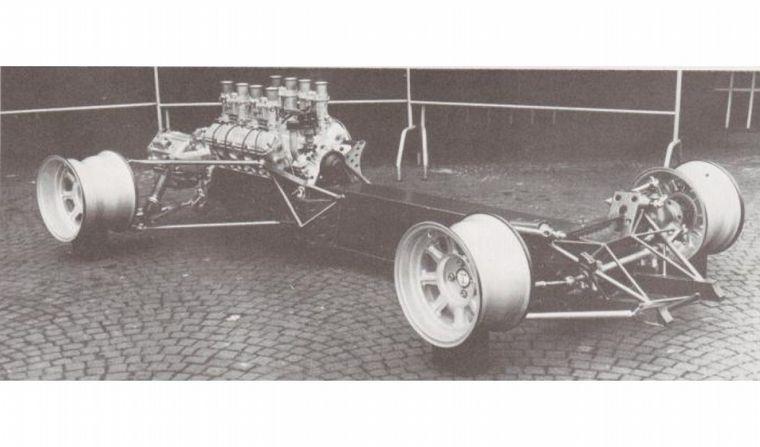 FOTO: De Tomaso usaba el mismo concepto de chasis en sus unidades, aquí el Sport 5000