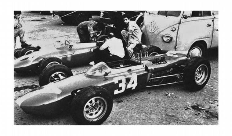 FOTO: El 801 de F1 rumbo a su debut en Monza 1962
