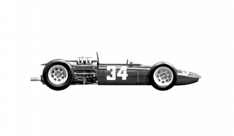 FOTO: El motor boxer de 8 cilindros para su F1