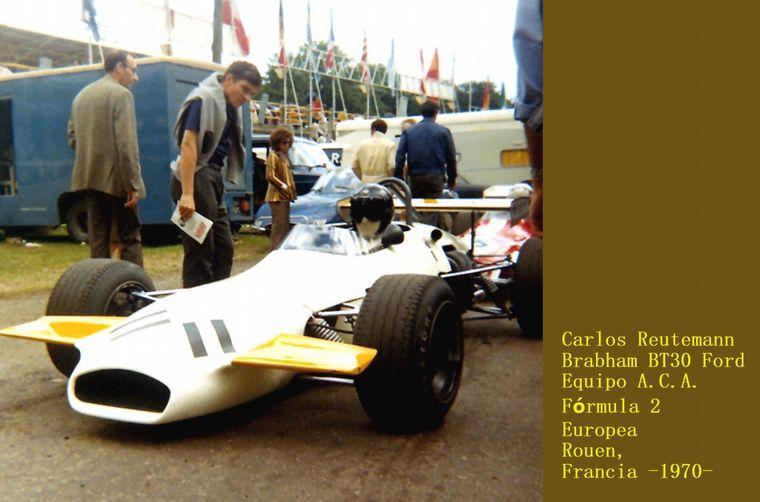 FOTO: Ikuzawa con Lotus oficial, uno de los duros rivales de la F2 1970