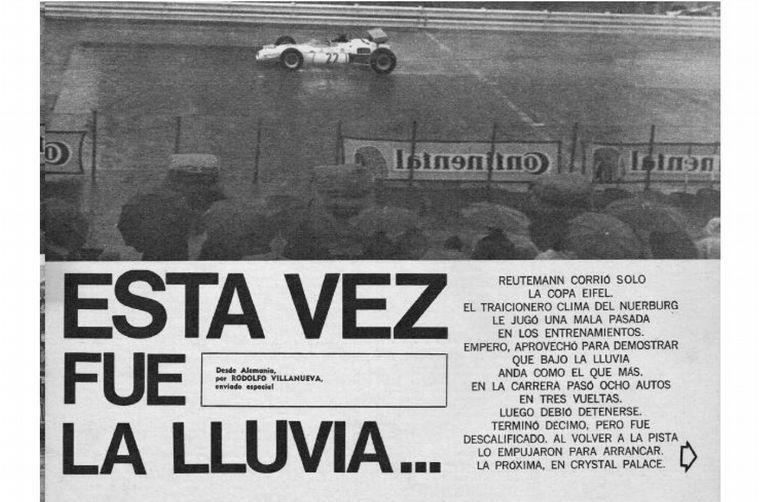 FOTO: Nürburgring, con casi 250 mil personas, Reutemann larga en Fila 7 y remonta, pero...