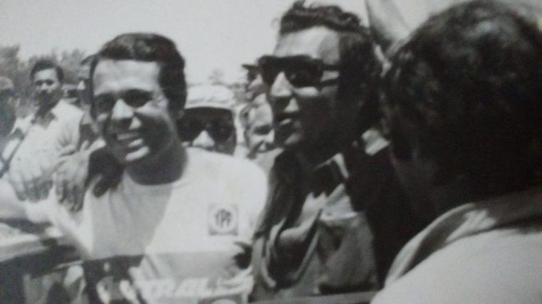 FOTO: Con su amigo Horacio Guaraní y Luis Sponer