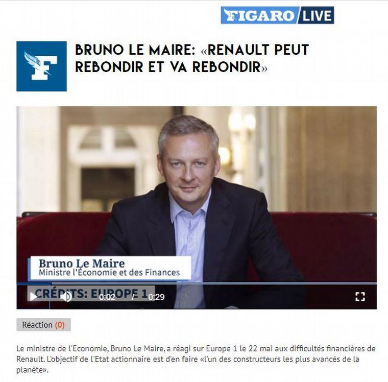 FOTO: El ministro de Economía francés, Bruno Le Maire