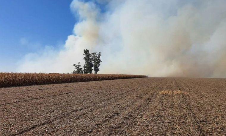 AUDIO: Denuncian incendio intencional en el campo del vice de CRA (Informe de E. Pasquali)