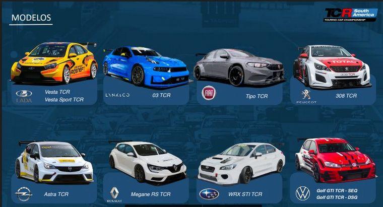 FOTO: TCR, algunos modelos en actividad.
