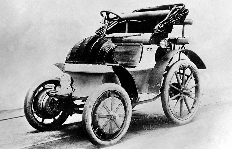 """FOTO: El """"vehículo eléctrico Egger-Lohner, modelo C.2 Phaeton"""" (denominado """"P1"""")"""