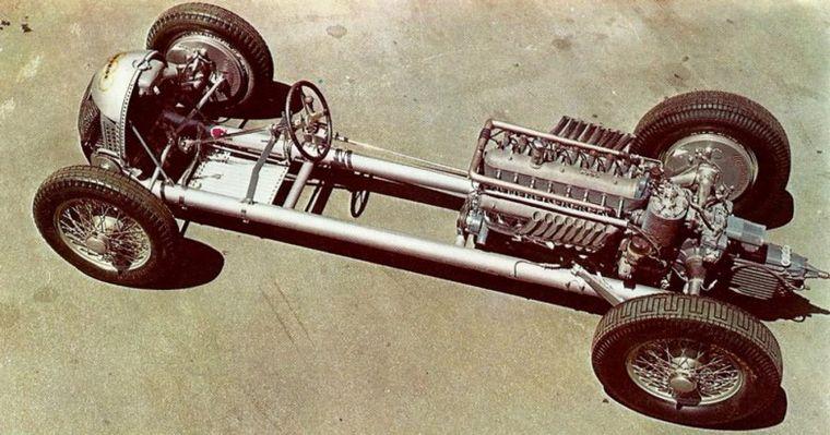 FOTO: El motor V16 y el auto Grand Prix que Auto Union le encargó a Porsche