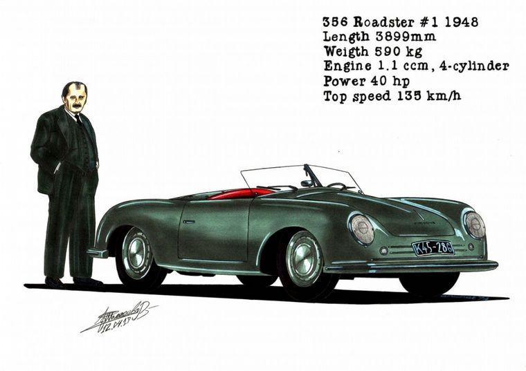 FOTO: Primer 356 fabricado en Stuttgart. Porsche dejó su precaria instalación austriaca