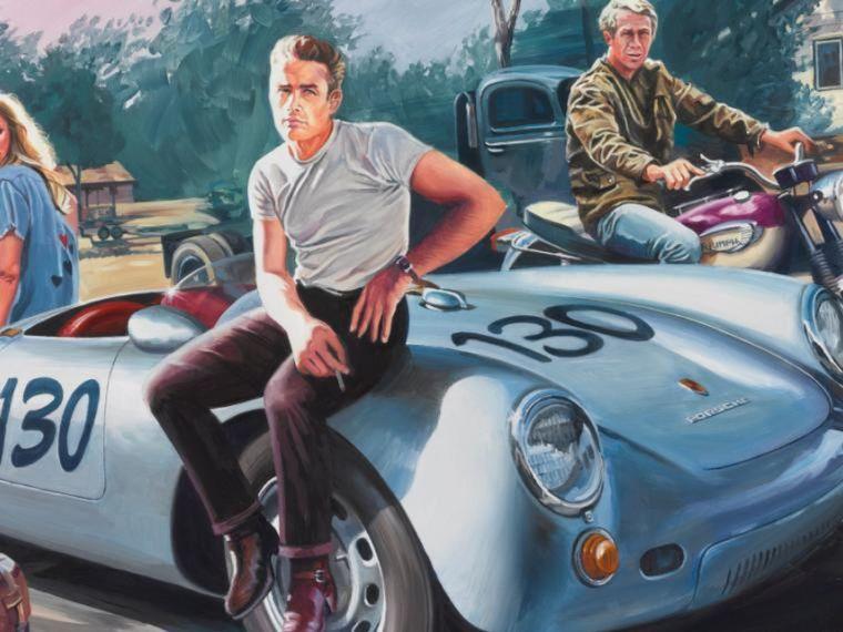 FOTO: La replica del 550 de James Dean, el actor perdió la vida en un accidente