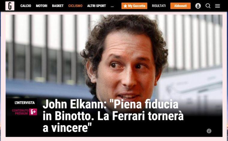 FOTO: Elkan dio respaldo al proceso de Binotto