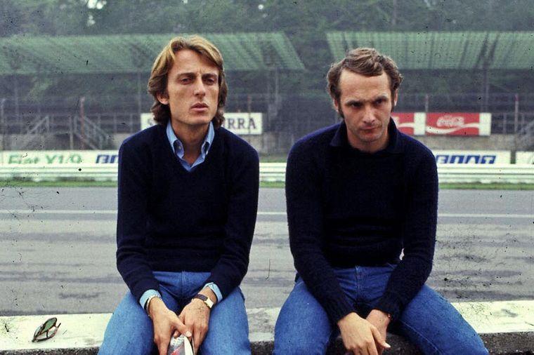FOTO: Ferrari y la dupla di Montezemolo-Lauda, que cerró la sequía de 12 años en 1975