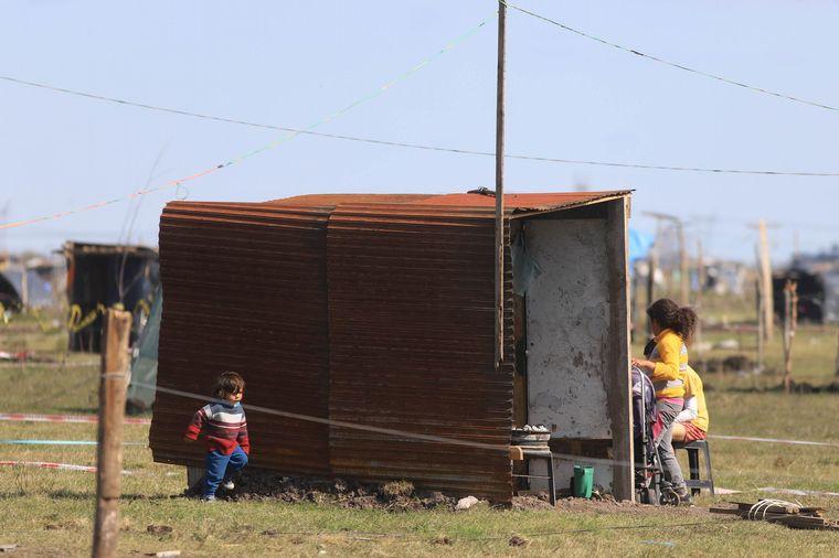 FOTO: Los terrenos reclamados por sus propietarios fueron ocupados en julio pasado.