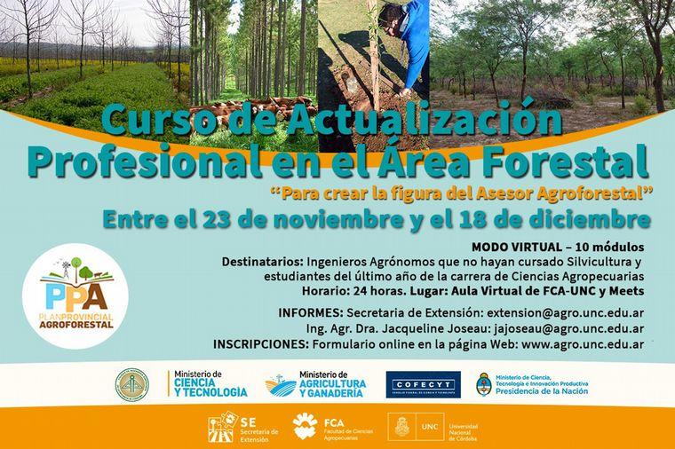 FOTO: Curso de Actualización Profesional en el Área Forestal 2020.