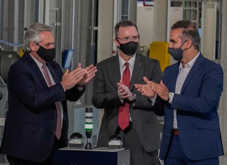 FOTO: El presidente Alberto Fernández acompañó la inauguración fabril en Gral. Pacheco