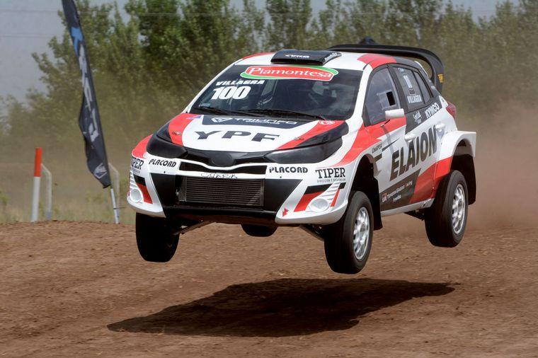 FOTO: Villagra,Dagostini y Ligato, la gran definición del título de RallyCross.
