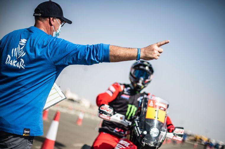 FOTO: En carrera los mendocinos Juan Cruz y Alejandro Yacopini con la Toyota Overdrive.