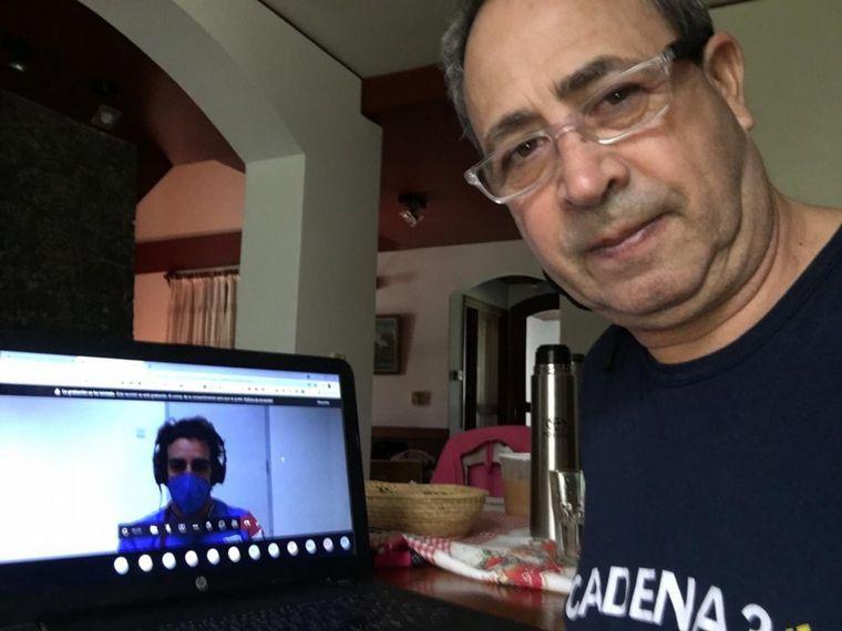 FOTO: Fernando Alonso en el chat de hoy con periodistas argentinos