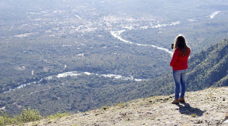 FOTO: Juan Pablo Viola visitó el Cerro Wank
