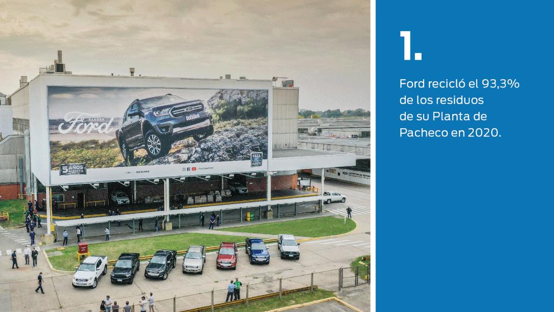 FOTO: Planta Pacheco de Ford Argentina recicla el 93% de los residuos.