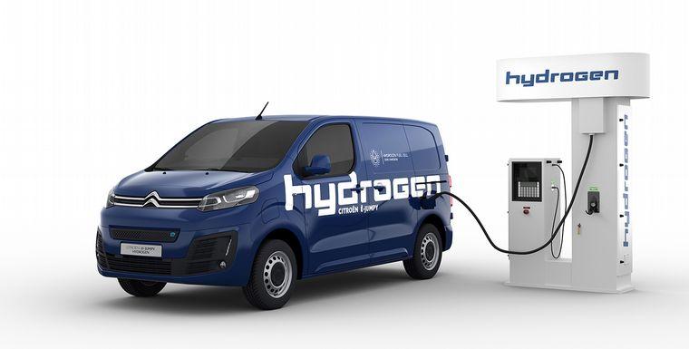 FOTO: Citroën ë-Jumpy, con baterías y una pila de combustible de hidrógeno.