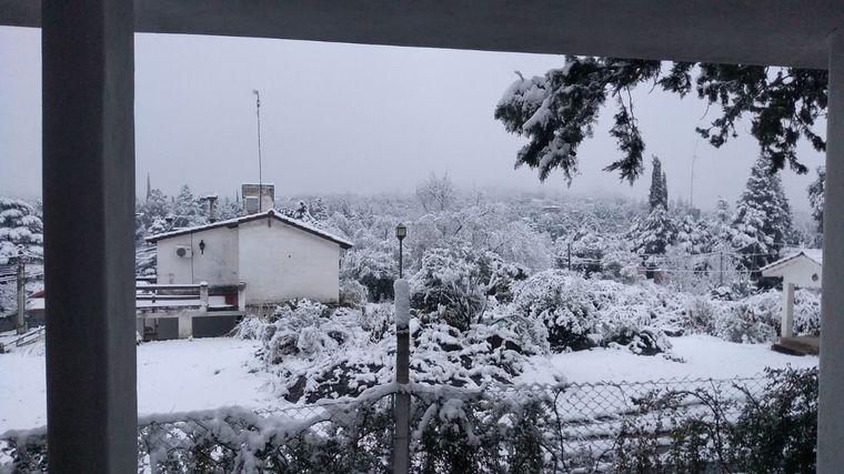 FOTO: Nieve en Las Jarillas