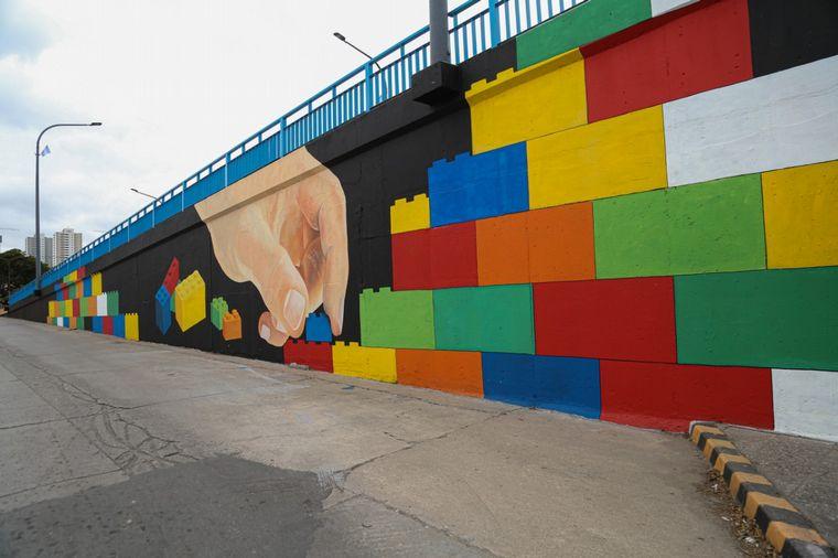 FOTO: Primer puente LEGO en Córdoba.