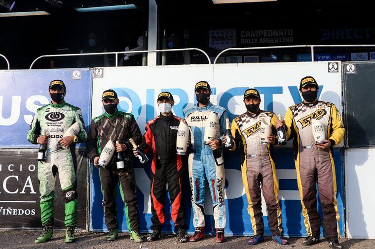 FOTO: El tucumano Padilla fué 3° y lidera cómodo el campeonato de Maxi Rally.