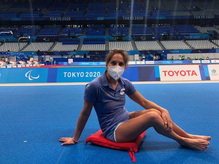 FOTO: Elizabeth Noriega, nadadora cordobesa que compite en los Juegos Paralímpicos