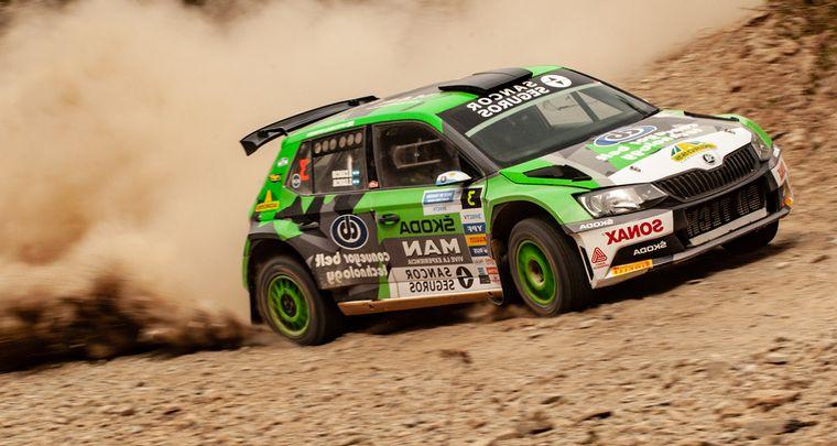 FOTO: Nico Díaz (Fiesta) ahora manda en la Maxi Rally con dos PE del domingo.