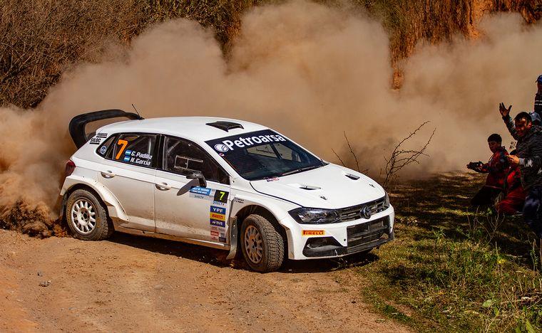 FOTO: Martín Suriani (3°) tuvo su primer podio en Maxi Rally.
